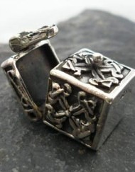 Miniature Sterling Silver Box Pendant