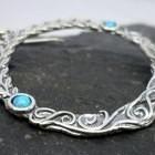 Sterling Silver Opal Embellished Wreath Earrings
