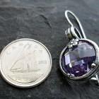 Sterling Silver Purple Cubic Zirconia Earrings