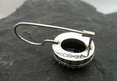 Sterling Silver Red Oval Garnet Earrings