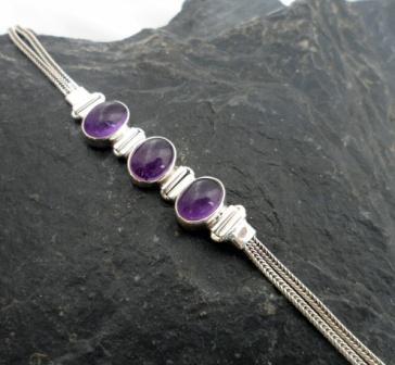 Sterling Silver and Gemstone Bracelets