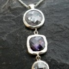 Sterling Silver Purple Cubic Zirconia Necklace