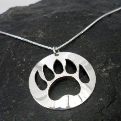 Nancy Dawson Sterling Silver Native Bear Paw Necklace