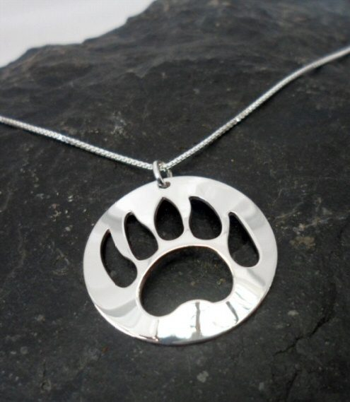 Nancy Dawson Sterling Silver Native Bear Paw Necklace