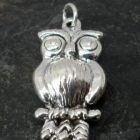 Large Sterling Silver Puffy Owl Pendant