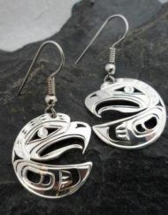 Vincent Henson Sterling Silver Eagle Earrings