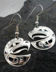 Vincent Henson Sterling Silver Eagle Earrings