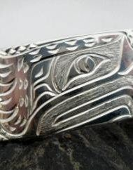Vincent Henson Sterling Silver Native Eagle Cuff Bracelet