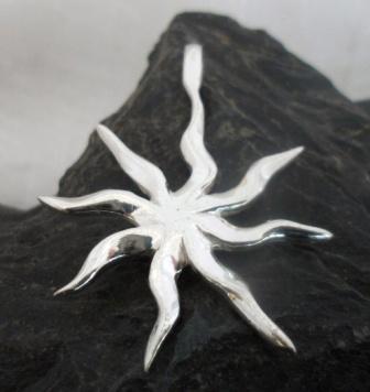 Sterling Silver Sunburst Pendant