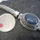 Sterling Silver Kyanite Wheat Link Bracelet