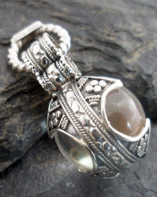 Sterling Silver Clear Rock Crystal Ball Pendant