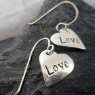 Sterling Silver Heart Love Earrings