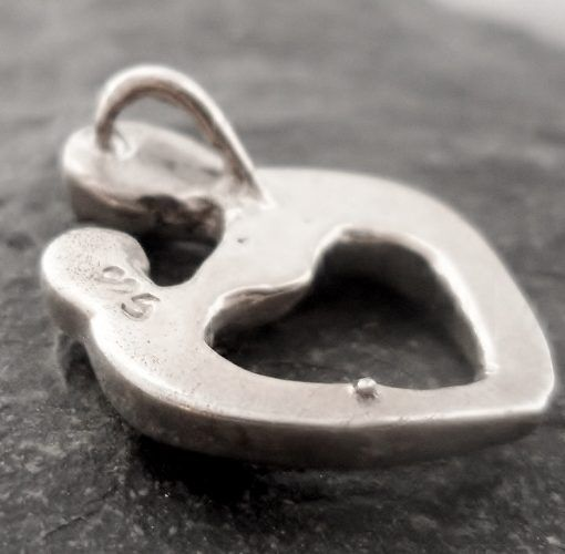 Sterling Silver Soulmate Heart Pendant