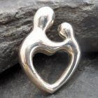 Sterling Silver Soulmate Heart Pendant